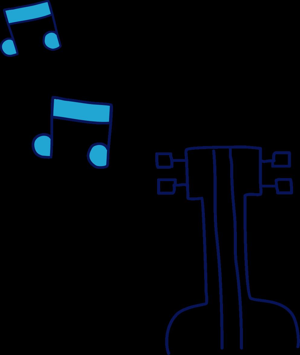 Guitare émettant des notes