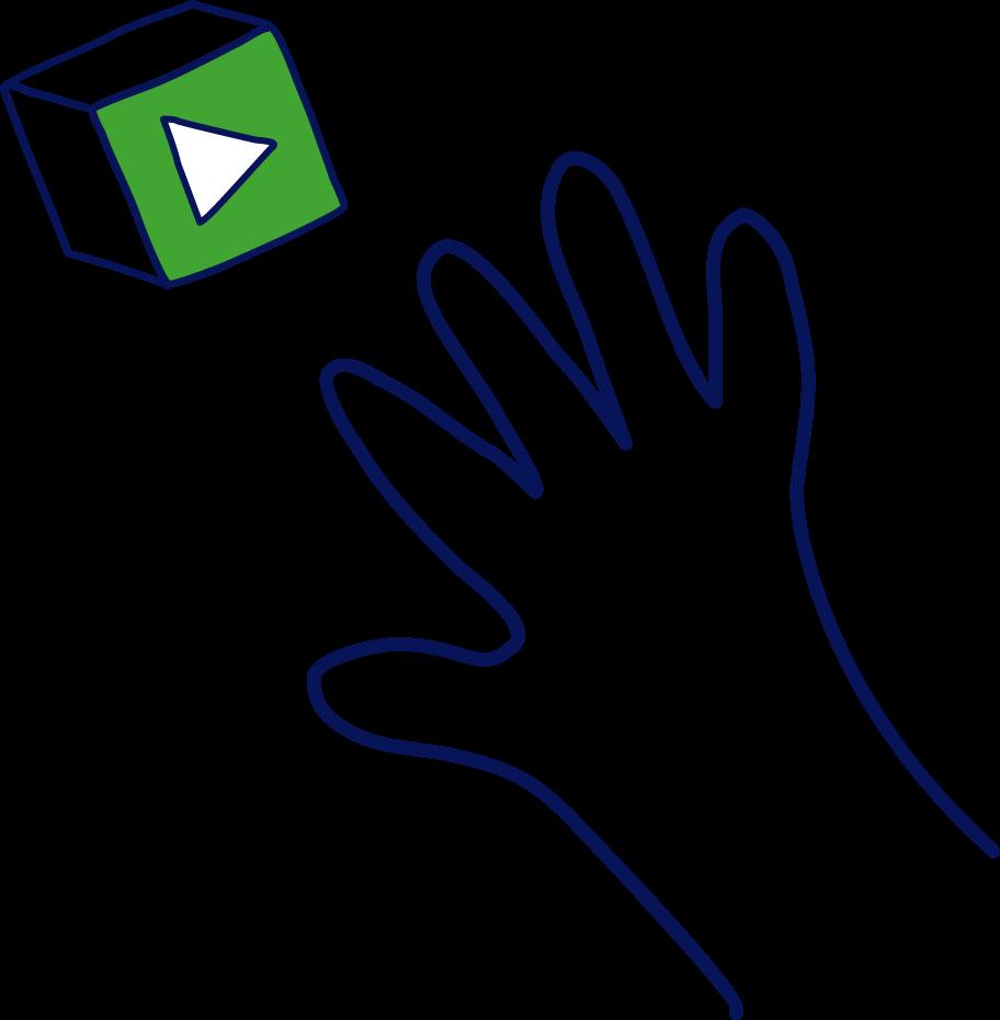 Main avec un cube